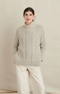 Alex Mill Camil Cable Sweater in driftwood
