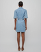 Nanushka Taylor Short-Sleeve Denim Dress