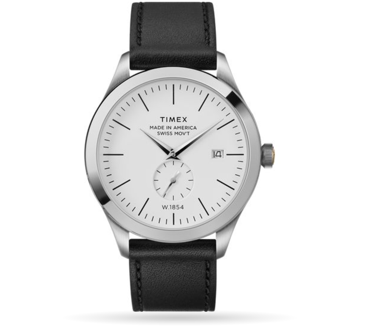 Timex American Documents® 41mm Black Leather Strap Watch