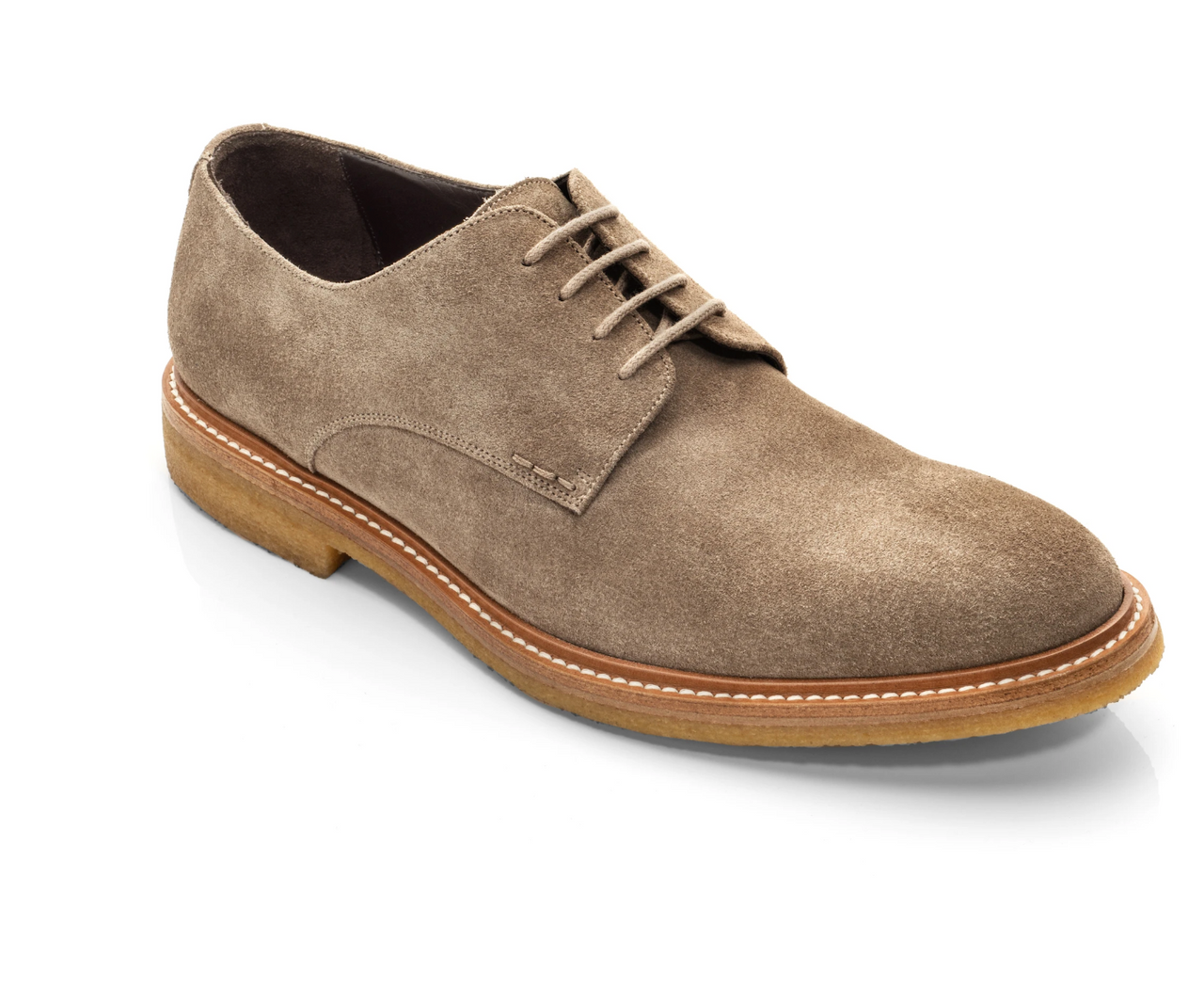 To Boot Park Suede Buck With Gum Rubber Sole, Taupe
