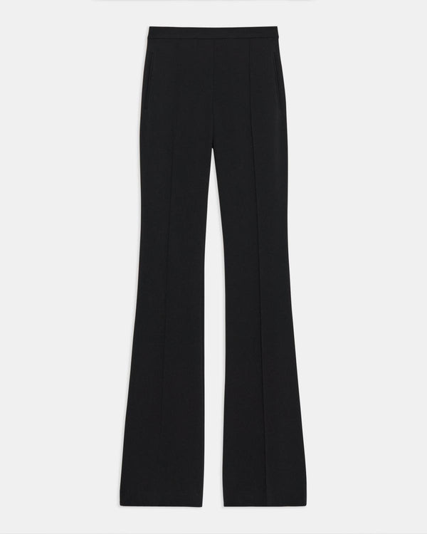 Theory Demetria Pull-On Pant In Crepe - Black