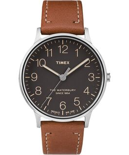 Timex Waterbury Classic 40mm Leather Watch- Black