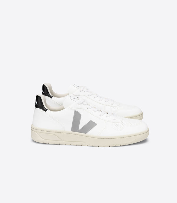 Veja V-10 CWL White Oxford-Grey Black