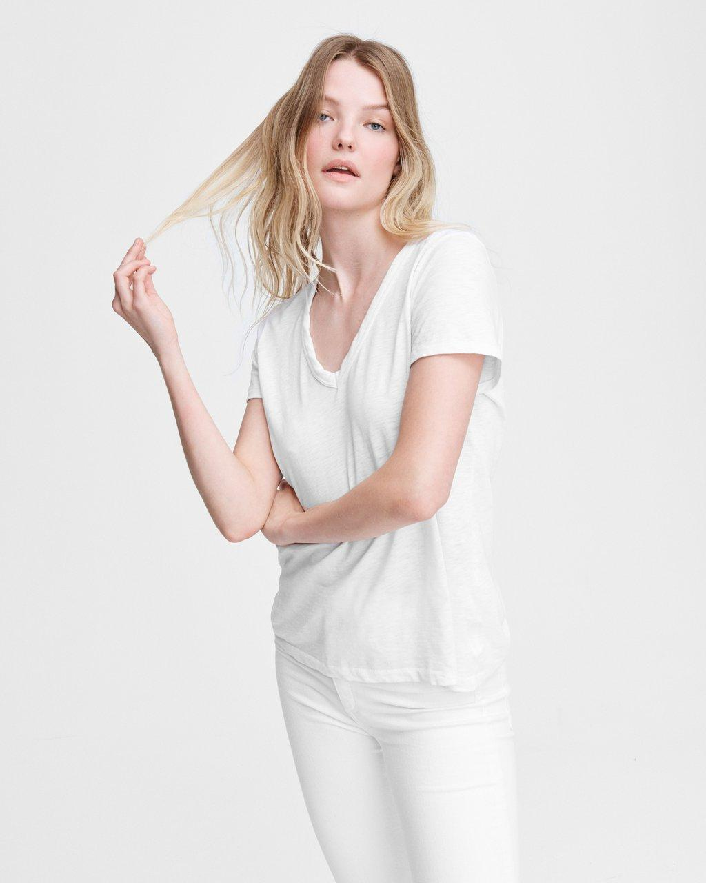 Rag & Bone The Slub Vee - White