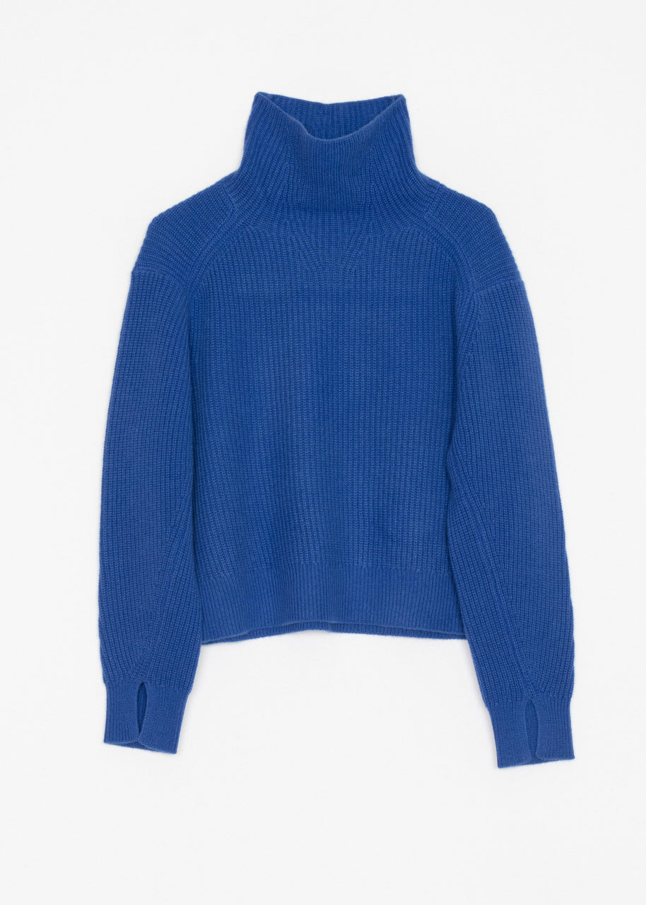 Rag & Bone Pierce Cashmere Turtleneck - Cobalt