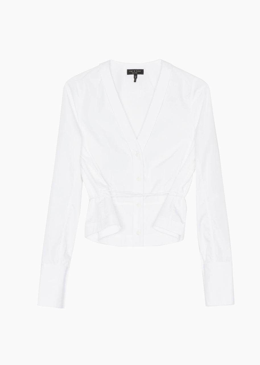 Rag & Bone Victorine Shirt  - White