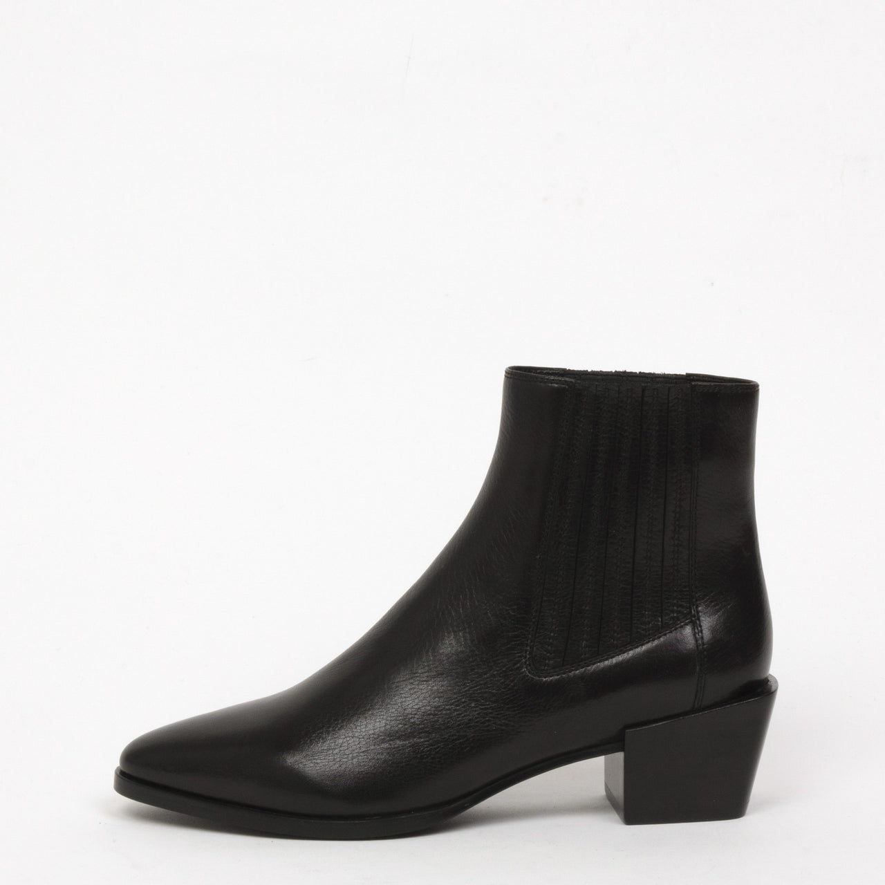 Rag & Bone Rover Boot - Leather Chelsea Ankle Bootie - Black
