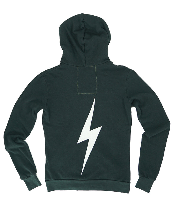 Aviator Nation Zip Hoodie Bolt Charcoal