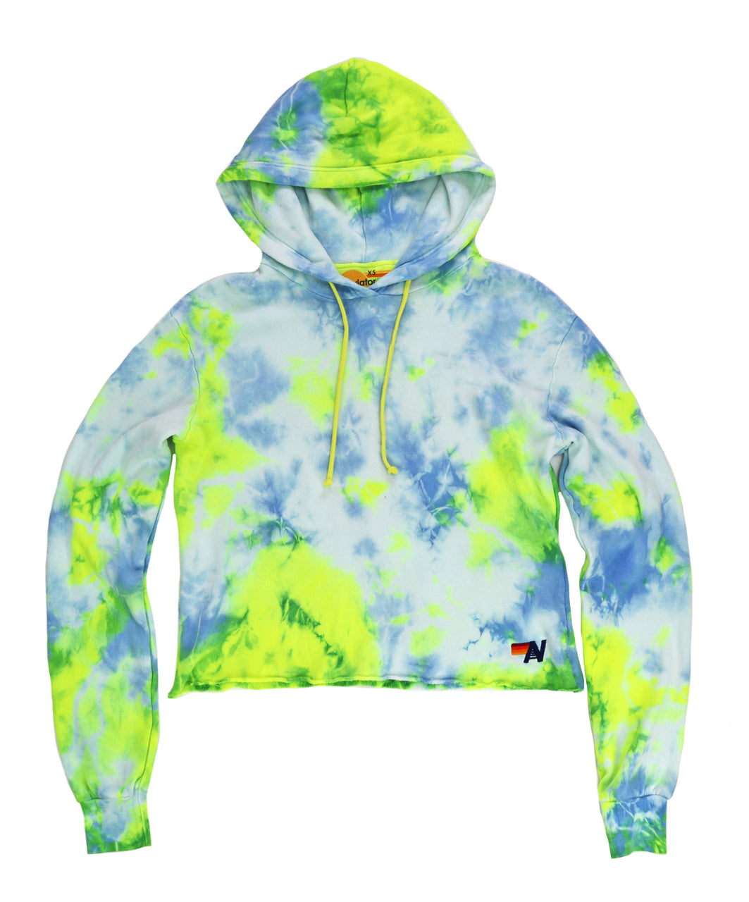 Aviator Nation Hand Dyed Neon Yellow Pullover