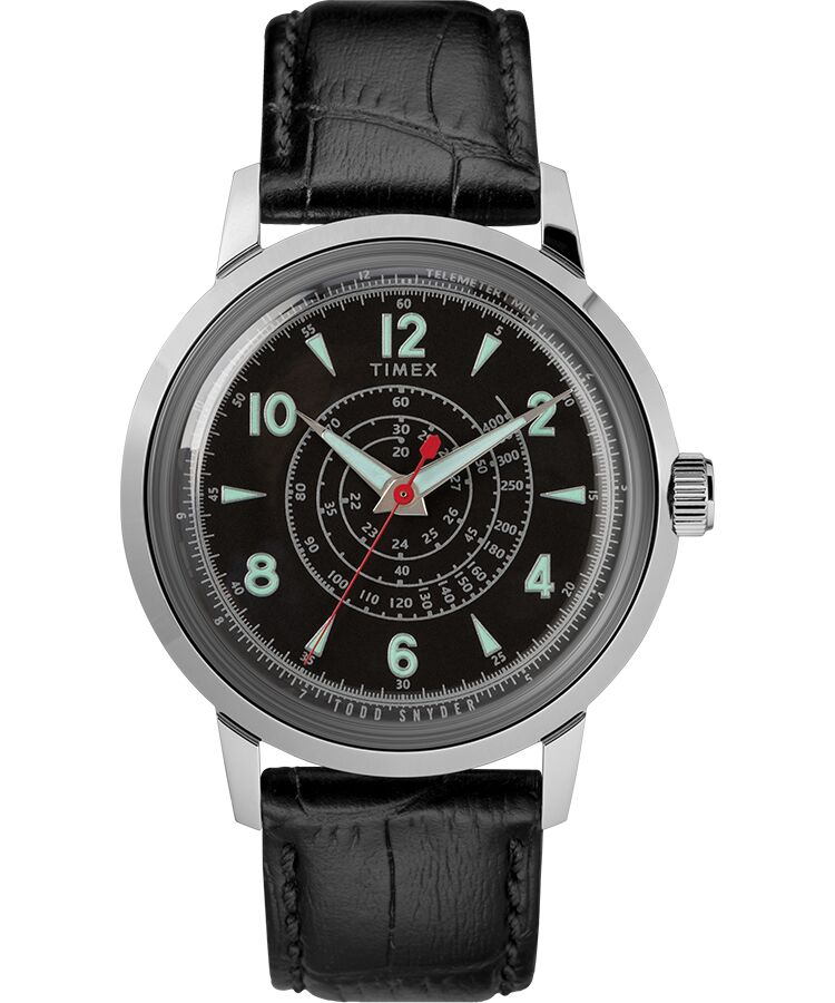 Timex Todd Snyder Beekman 40mm SST Leather Strap Watch