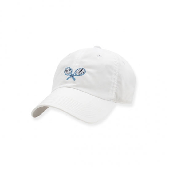 Smathers & Branson Crossed Racquets Performance Hat (white)