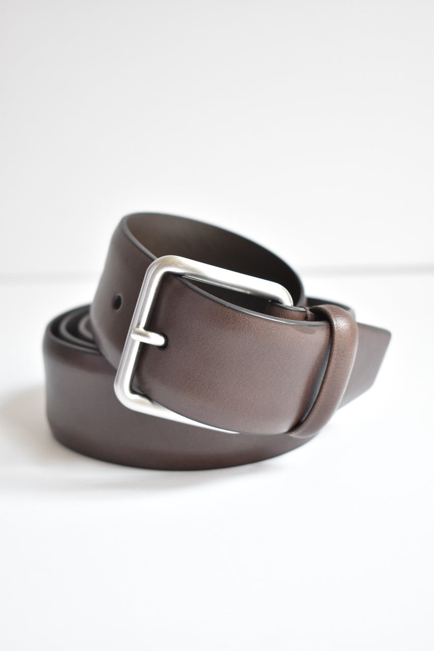 Anderson Belt Dark Brown Square Silver Buckle