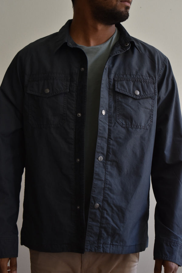 Faherty Cooper Shirt Jacket Washed Black