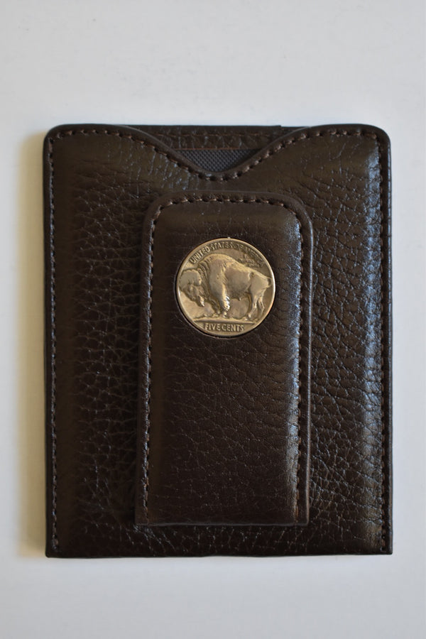 Tokens & Icons Buffalo Nickel Money Clip Wallet