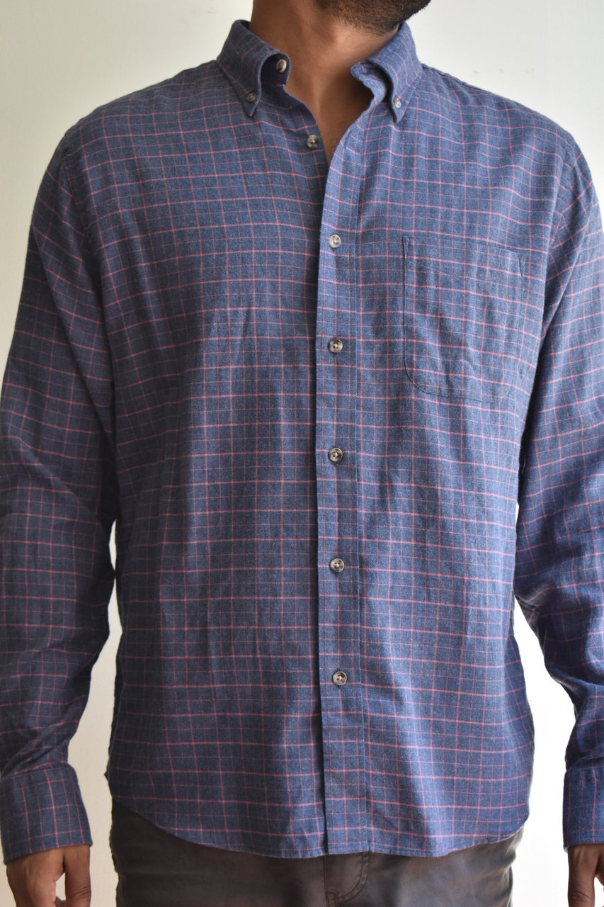 Faherty Brushed Everyday Button Down Shirt Hayes Check
