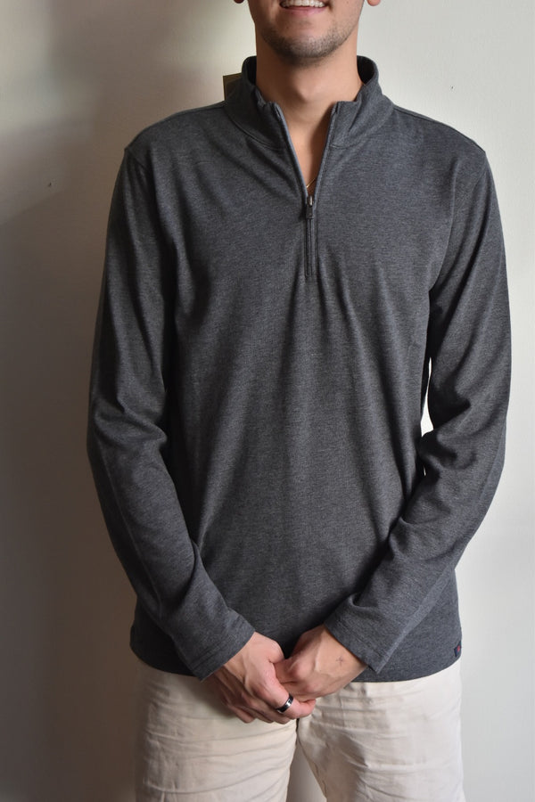 Faherty Suffolk Pullover Charcoal