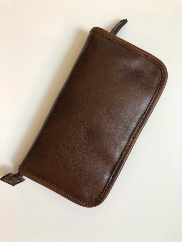 Moore & Giles Accessory Case Titan Milled Brown