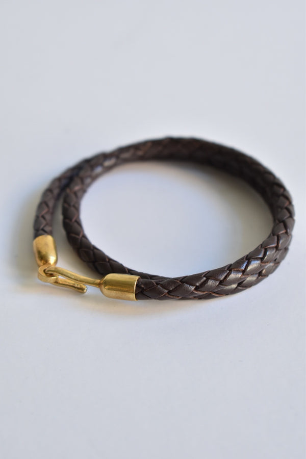 Caputo & Co Braided Leather Bracelet