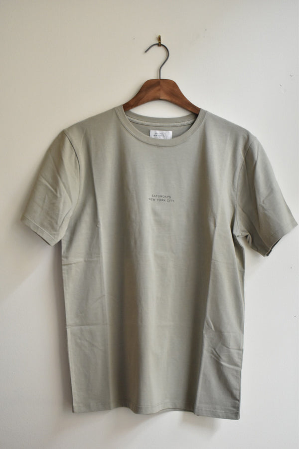 Saturdays Gotham Chest Short Sleeve Tee Stone Green