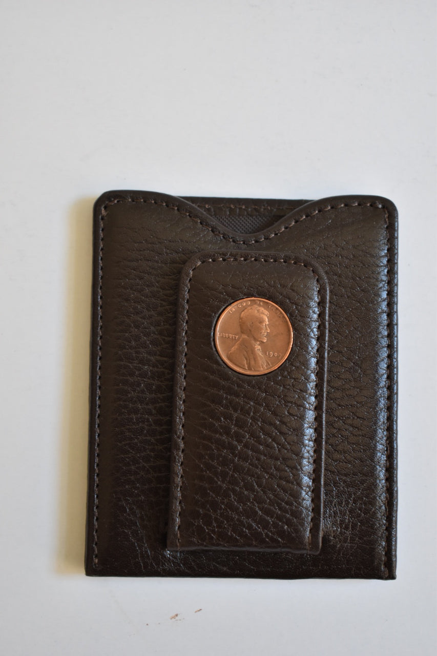 Tokens & Icons Lincoln Penny card wallet