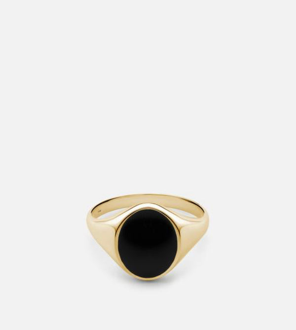 Miansai Heritage Ring, Gold Vermeil/Black