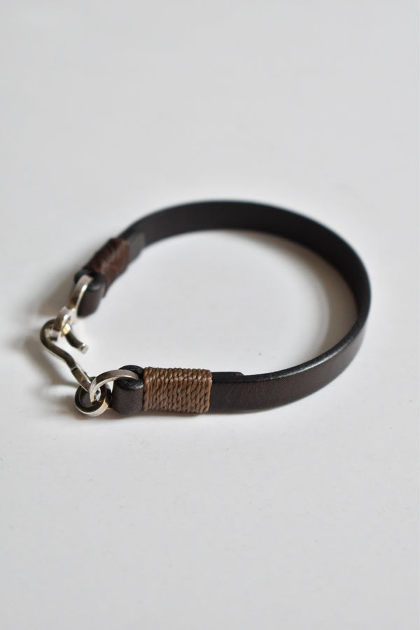 Caputo & Co Easy Leather Bracelet Chocolate