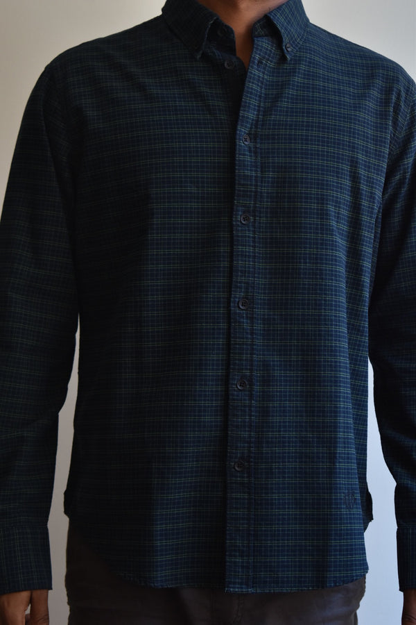Rag & Bone Tomlin Shirt Fit 2 Black/Green