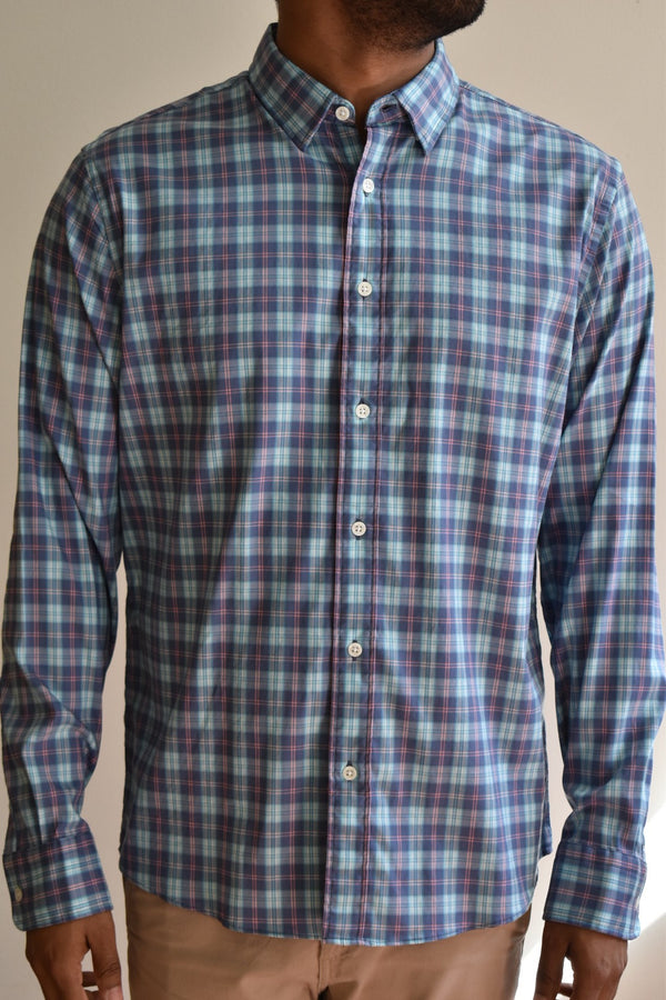 Faherty Movement Shirt Ocean Drive Plaid