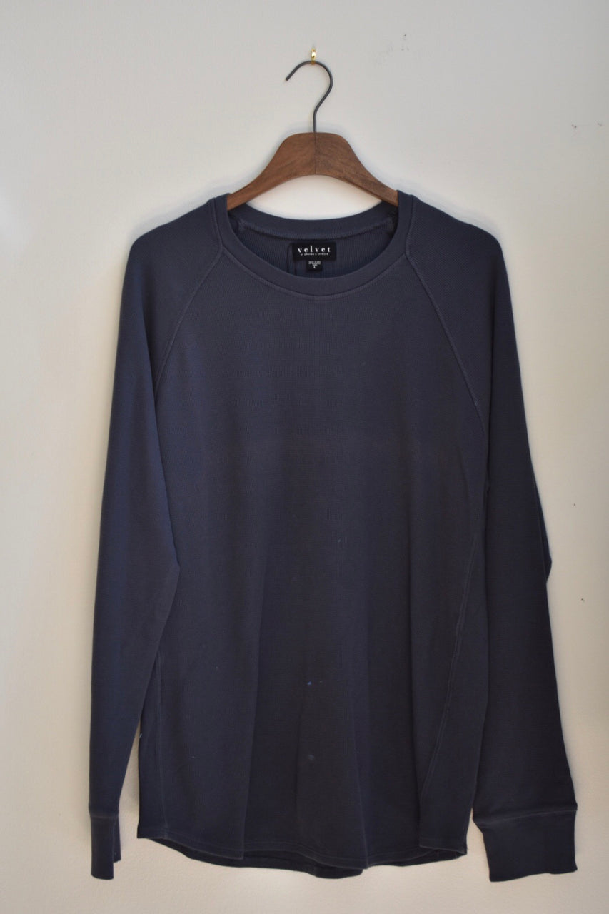 Velvet Thermal Knit Raglan Tee
