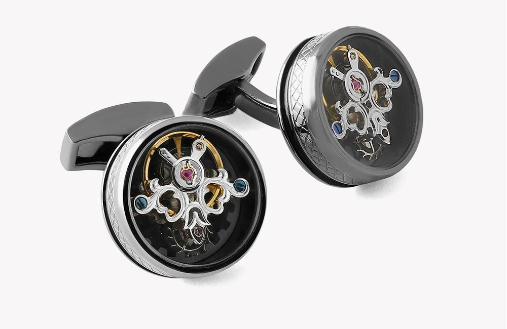 Tateossian Single Tourbillon Gear Cufflinks