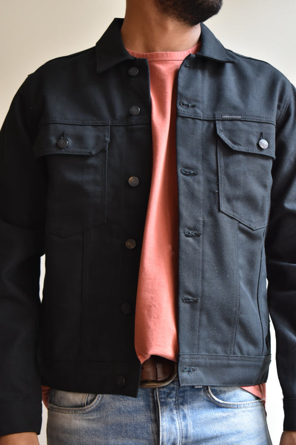 TOPO Trucker Jacket Canvas Black