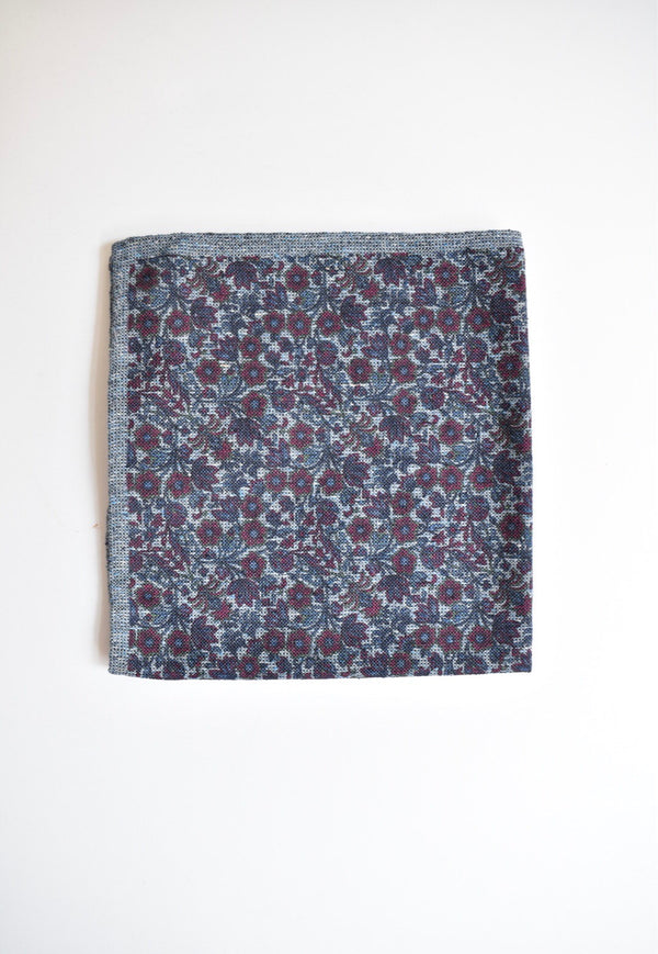 Ledbury Staffton Double Face Pocket Square Blackberry