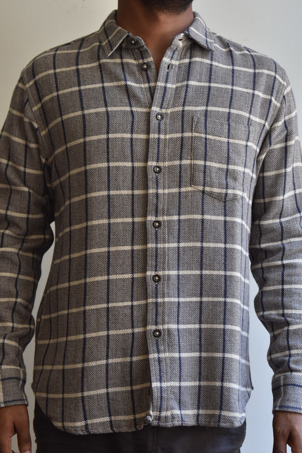 Corridor Blanket Herringbone Plaid Shirt