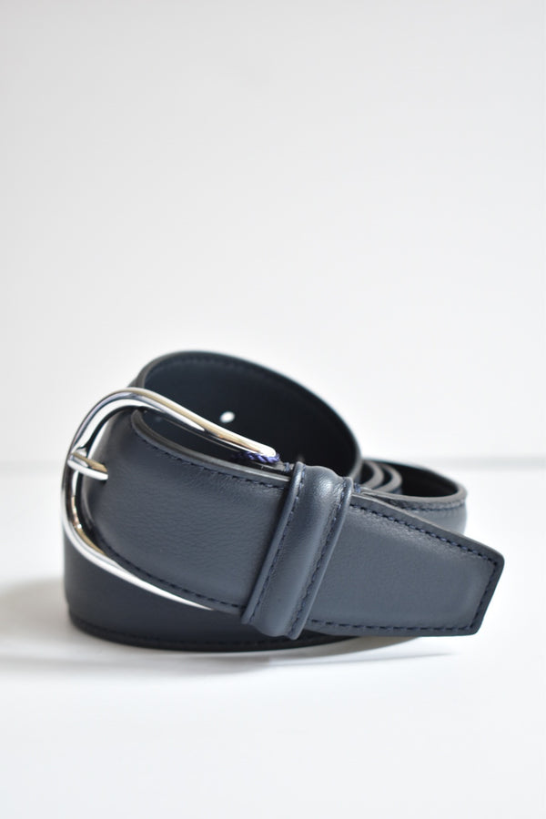 Anderson Belt Leather With Silver Rounded Buckle- Multiple Colors