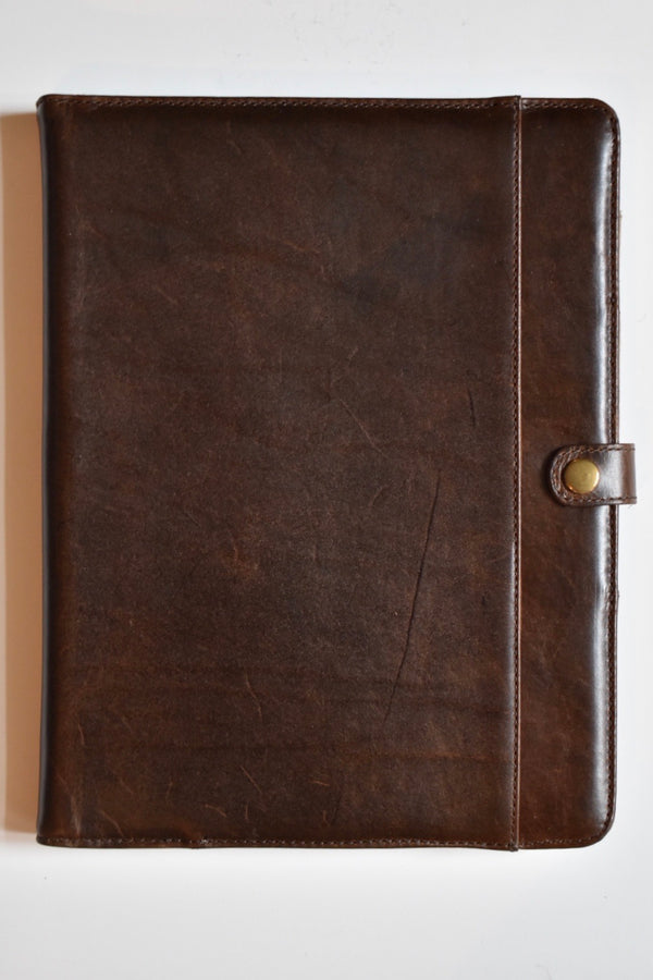 Moore & Giles Elliott Large Writing Pad Brompton Brown