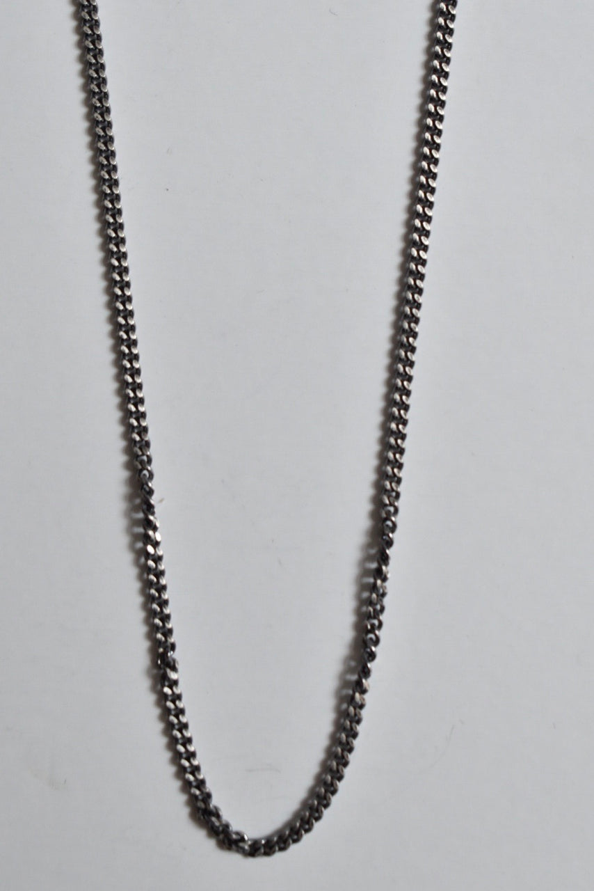 Miansai 2mm Cuban Chain Necklace, Oxidized, Sterling Silver