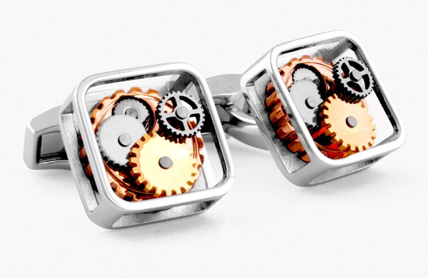 Tateossian Square Gear Cufflinks