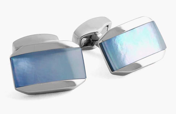 Tateossian Moonlight Tonneau Blue Mop Cufflinks