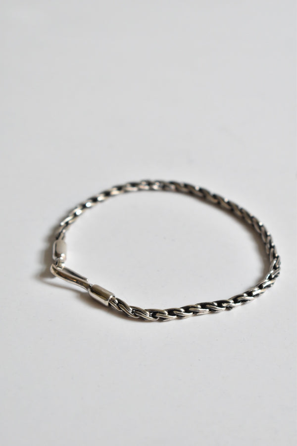 Caputo & Co Silver Chain Rope Bracelet