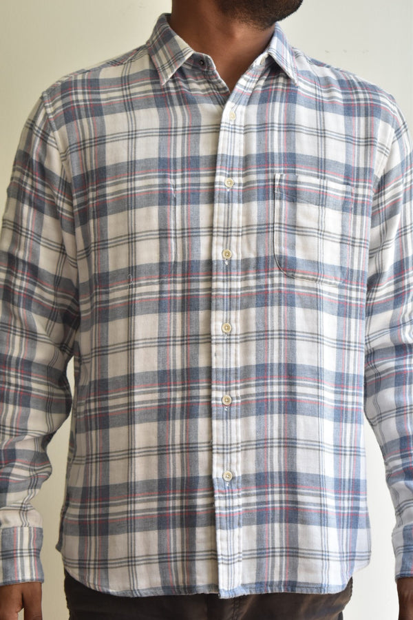 Faherty Reversible Shirt Sundowner Plaid