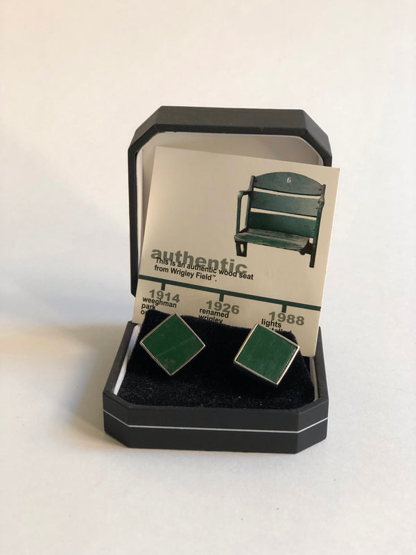 Tokens & Icons Wrigley Field Stadium Seat Cuff Link