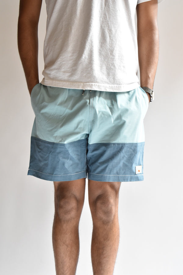 Faherty Block Beacon Swim Trunk Jade Navy