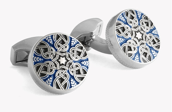 Tateossian Star Weave Enamel Cufflinks