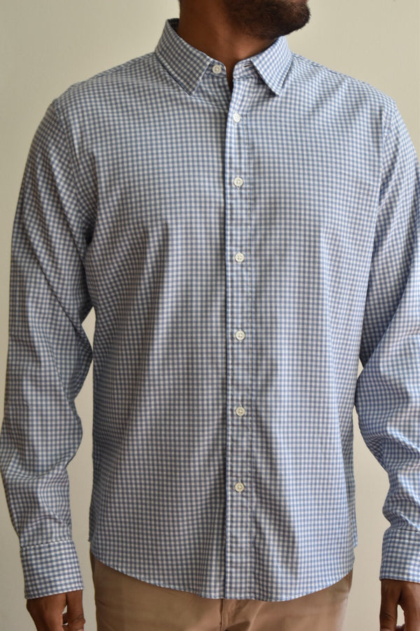 Faherty Movement Shirt Blue Gingham