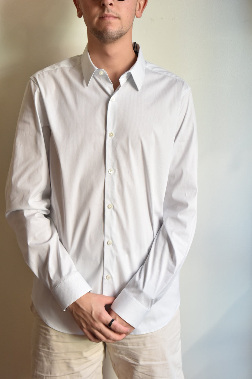 Theory Shirt Sylvain Wealth Pinstripe White