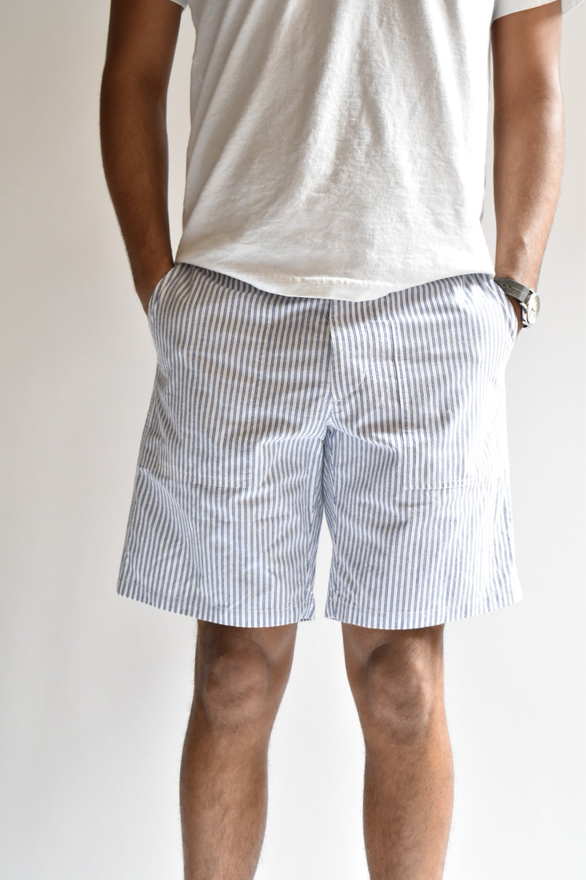 Rag & Bone Franklin Short Light Blue Striped