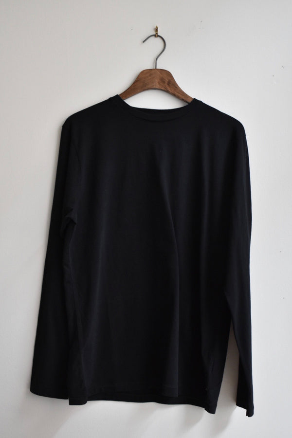 Saturdays Alek Pima Long Sleeve Tee Black