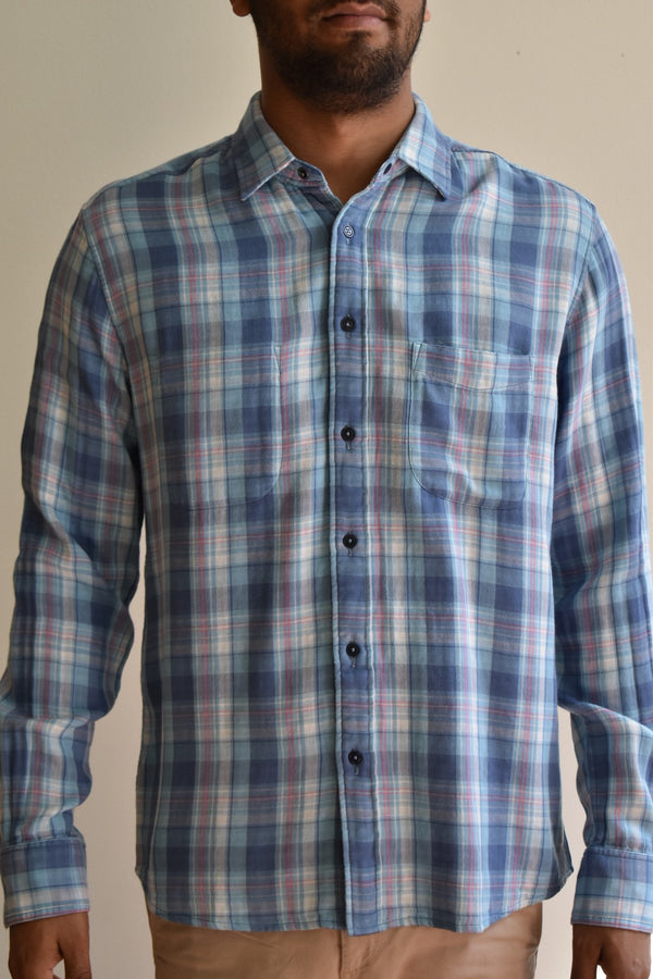 Faherty Reversible Belmar Shirt Catalina Plaid