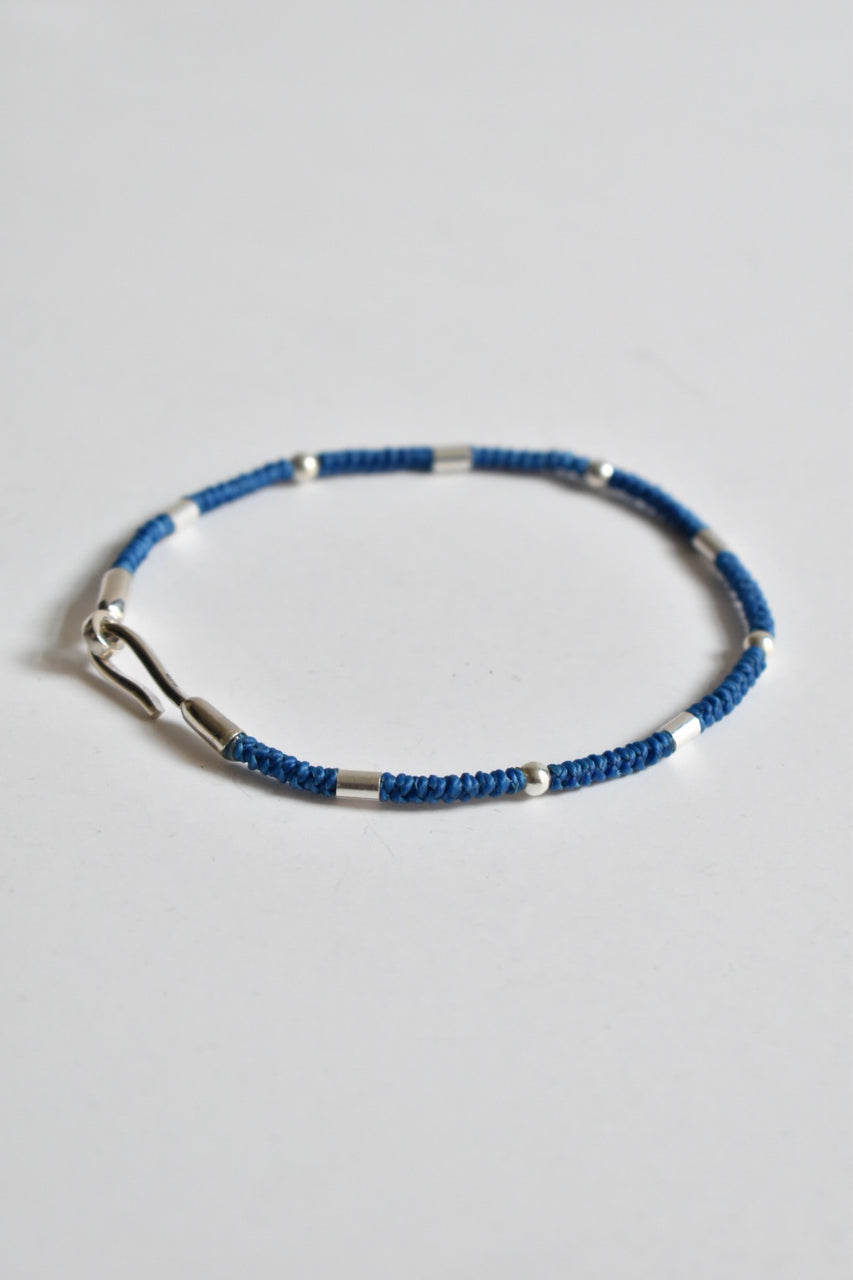 Caputo & Co Round Braid Balinese Bracelet Blue