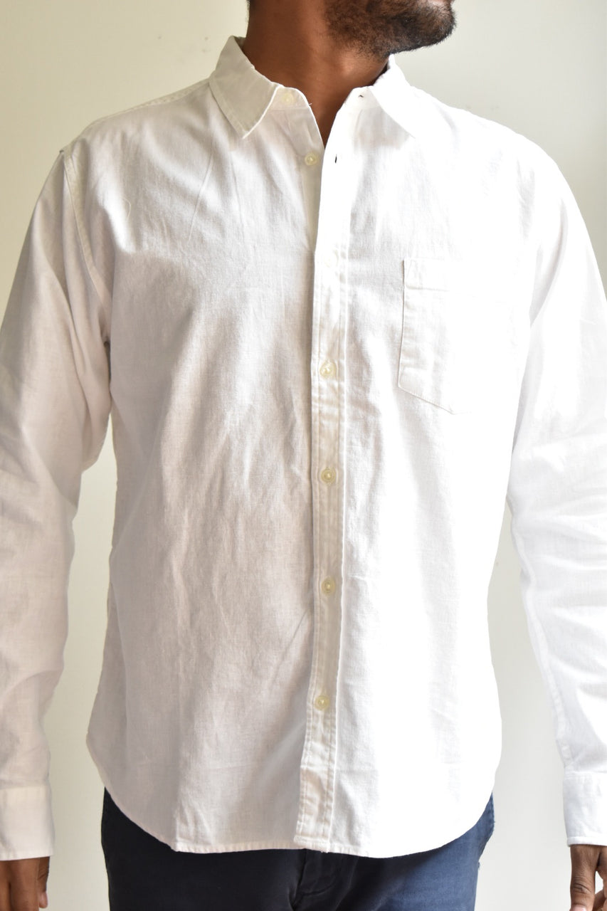 Corridor White Linen/ Cotton Shirt White